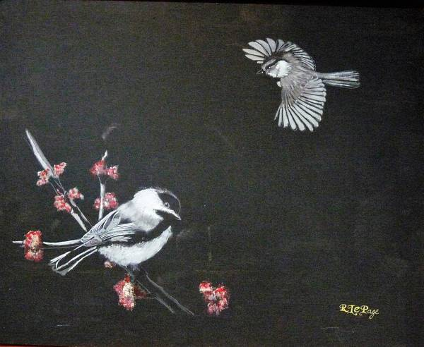 Painting - Chickadees by Richard Le Page