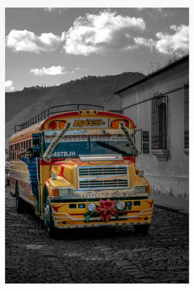Autobus Photograph - Chicken Bus - Antigua Guatemala by Totto Ponce