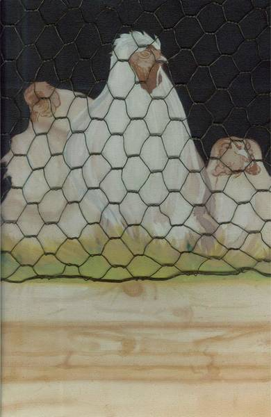 Painting - Chicken Coop by Jason Girard