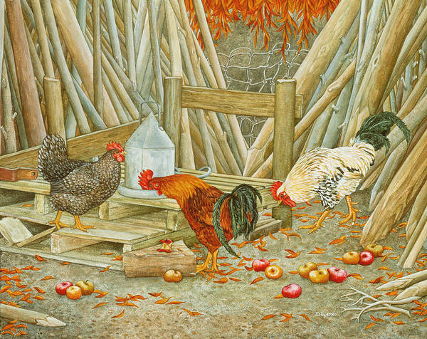 Stump Painting - Chicken Feed by Ditz