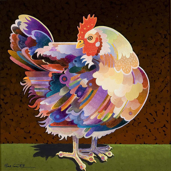 Chicken Painting - Chicken From Jamestown by Bob Coonts