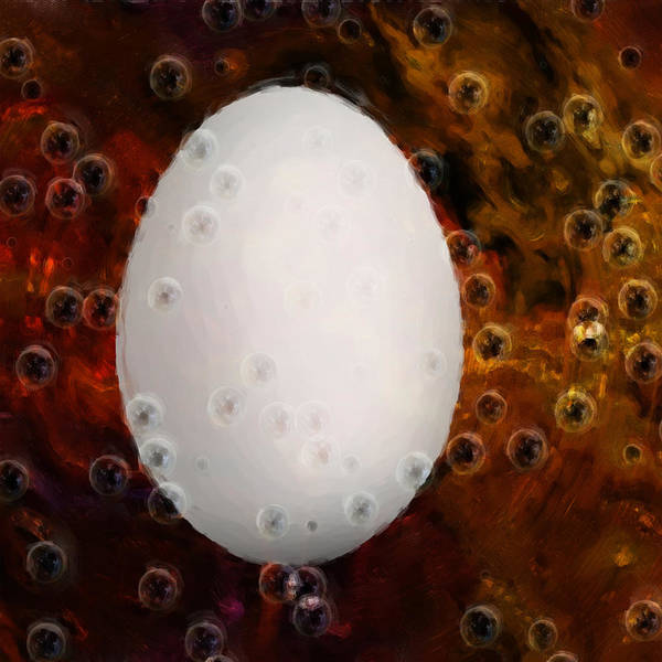 Protein Painting - Chicken Or The Egg by Jack Zulli