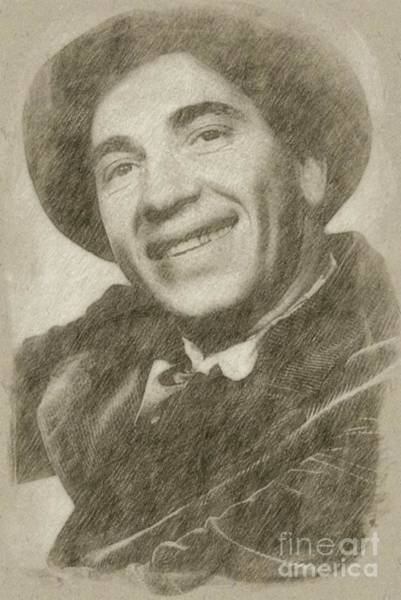 Rock Music Drawing - Chico Marx, Comedian And Actor by Frank Falcon