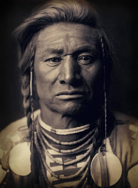 Wall Art - Photograph - Chief Child Of The Crow Nation 1908 by Daniel Hagerman