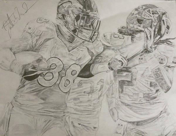 Super Bowl Drawing - Chief Demaryius Thomas  by Justin Wade