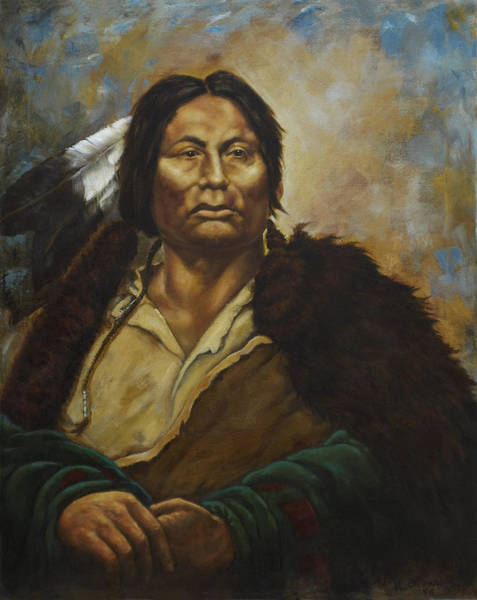 Sioux Wall Art - Painting - Chief Gall by Harvie Brown
