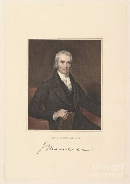 Justice Painting - Chief Justice John Marshall by Asher Brown Durand