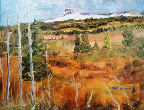 Painting - Chief Mountain by Larry Hamilton