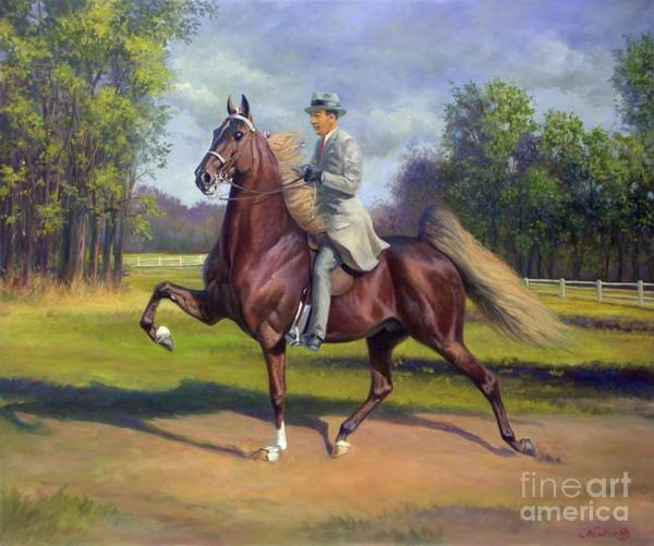 Jeanne Newton Schoborg Wall Art - Painting - Chief Of Spindletop by Jeanne Newton Schoborg