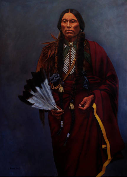 Wall Art - Painting - Chief Quanah Parker by Harvie Brown