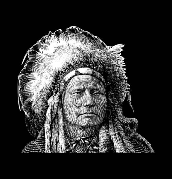 Running Digital Art - Chief Running Antelope - Native American History by War Is Hell Store