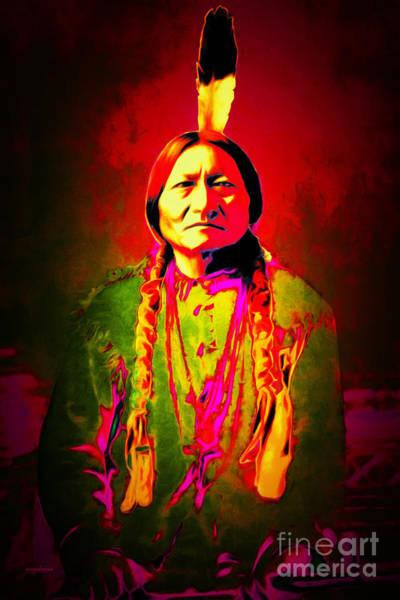 Sitting Bull Photograph - Chief Sitting Bull 20151228 by Wingsdomain Art and Photography