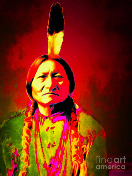 Photograph - Chief Sitting Bull 20151228v2 by Wingsdomain Art and Photography