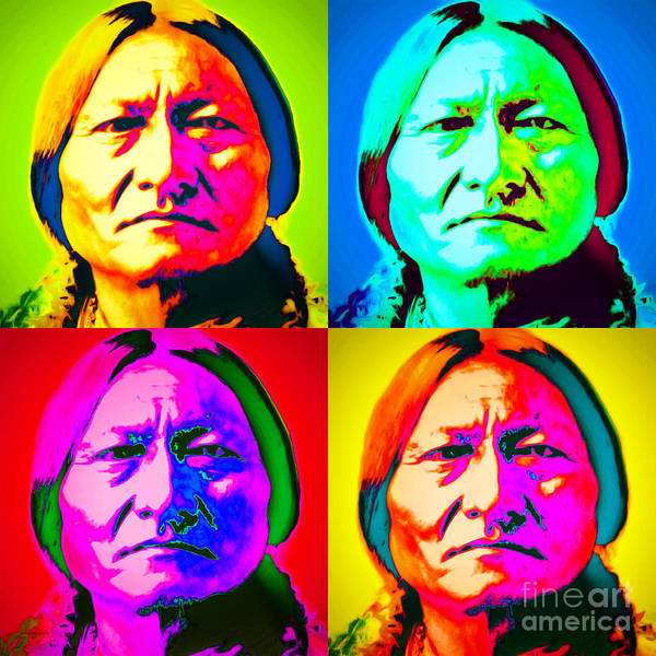 Photograph - Chief Sitting Bull 20151230 Four by Wingsdomain Art and Photography