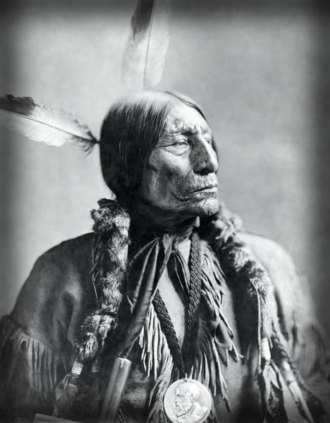 Wall Art - Photograph - Chief Wolf Robe 1904 by Daniel Hagerman