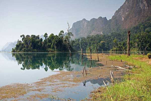 Photograph - Cheow Lan Lake Morning, Khao Sok by Aivar Mikko
