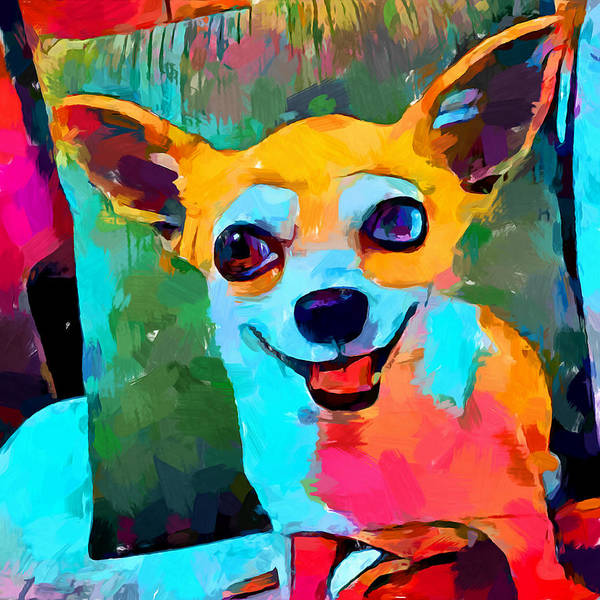 Wall Art - Painting - Chihuahua 3 by Chris Butler