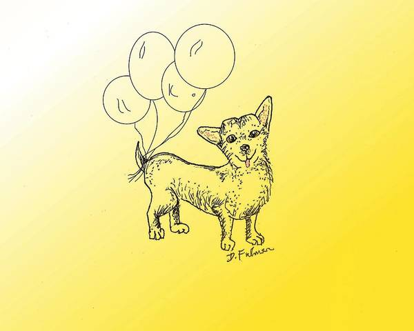 Drawing - Chihuahua by Denise F Fulmer