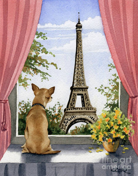 Chihuahua Painting - Chihuahua In Paris by David Rogers
