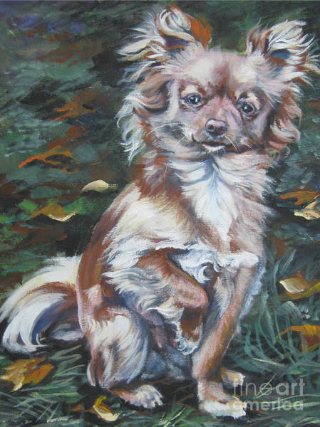 Chihuahua Painting - Chihuahua Long Haired by Lee Ann Shepard