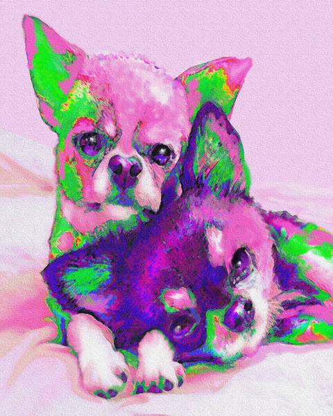 Wall Art - Digital Art - Chihuahua Love by Jane Schnetlage