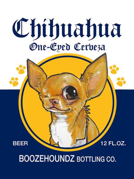 Chihuahua One-eyed Cerveza Art Print