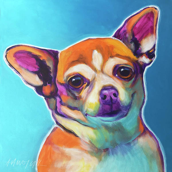 Wall Art - Painting - Chihuahua - Starr by Alicia VanNoy Call