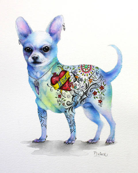 Painting - Chihuahua Topo by Patricia Lintner