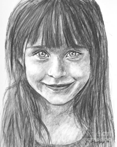 Drawing - Child In Charcoal by Kate Sumners