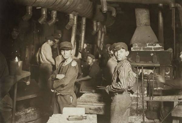 Painting - Child Laborers In Glassworks. Indiana, 1908 by Celestial Images