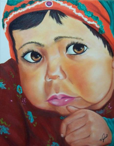 Painting - Child Of Afghanistan by Joni McPherson