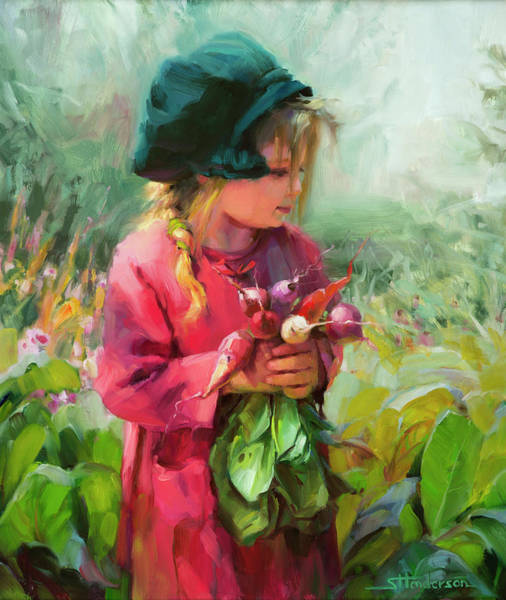 Toddler Painting - Child Of Eden by Steve Henderson