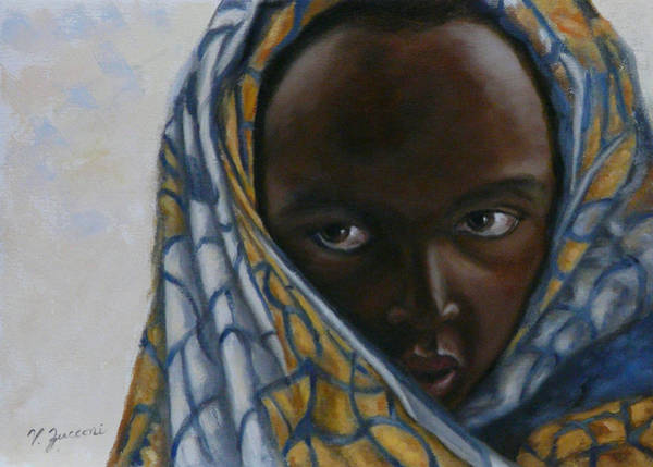 Penetrate Painting - Child Of Rwanda by Victor Zucconi