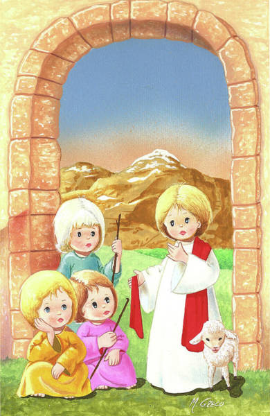 Child Shepherds Art Print