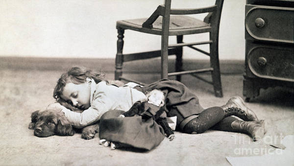 Photograph - Child With Doll, C1895 by Granger