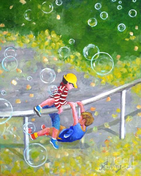 Painting - Childhood #1 by Betty M M Wong