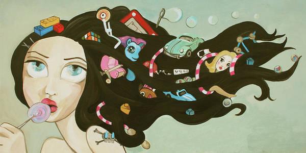 Skip Rope Painting - Childhood Memories by Dania Piotti