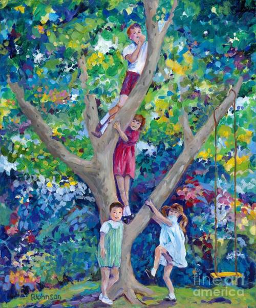 Sycamore Painting - Childhood Memories by Peggy Johnson