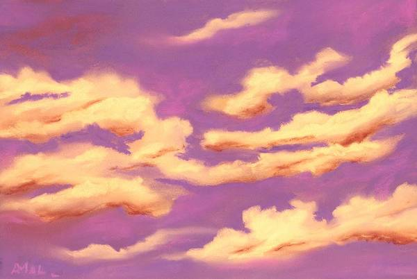 Painting - Childhood Memories - Sky And Clouds Collection by Anastasiya Malakhova