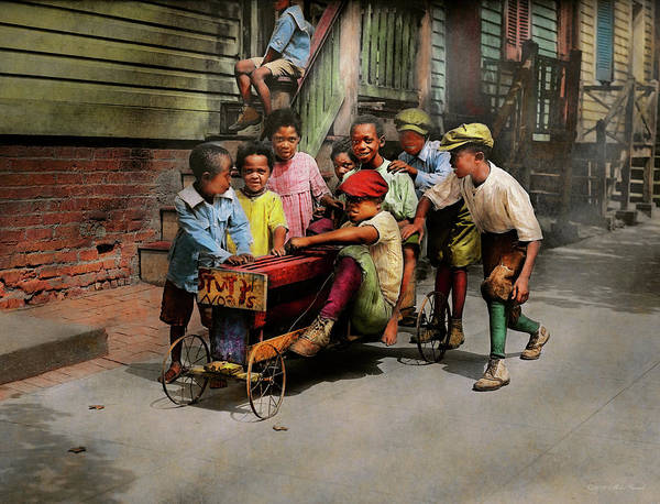 Photograph - Children - 5th Times A Charm 1915 by Mike Savad