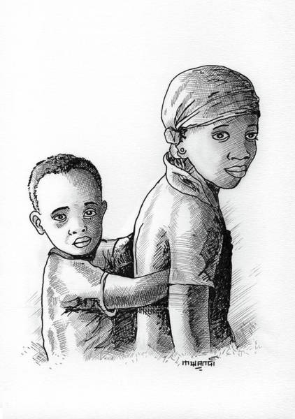 Kenya Mixed Media - Children by Anthony Mwangi