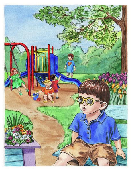 Painting - Children At The Playground  by Irina Sztukowski