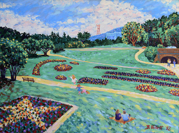 Painting - Children In Golden Gate Park by Bonnie Follett