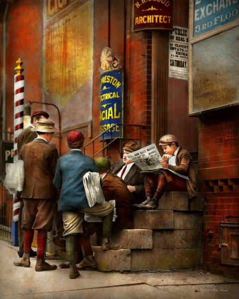 Wall Art - Photograph - Children - Morning Meeting 1910 by Mike Savad