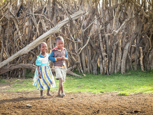 Photograph - Children Of Masa Mara Village by Robin Zygelman