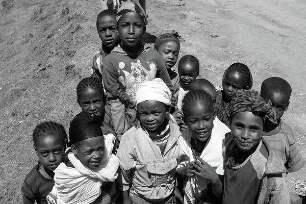 Photograph -  Children Of The Guge Mountain's, Ethiopia by Aidan Moran