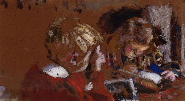 Painting - Children Reading by Edouard Vuillard