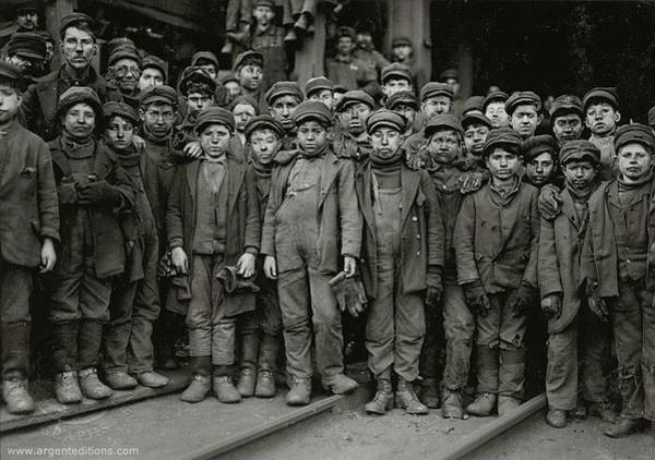 Photograph - Children Working In Coal Mine Lewis Hine Photo  Unknown Location C. 1910  by David Lee Guss
