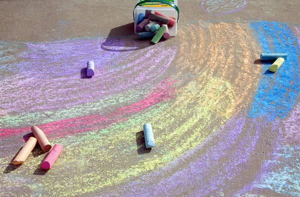 Fun Wall Art - Photograph - Childs Chalk Art 2 by Steve Ohlsen