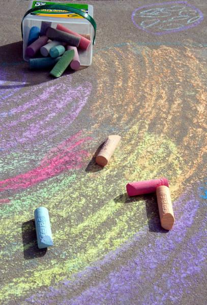 Fun Wall Art - Photograph - Childs Chalk Art 3 by Steve Ohlsen